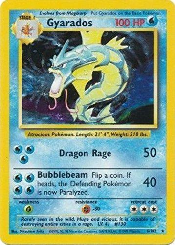 amazon com pokemon card english holo gyarados base set 6 102