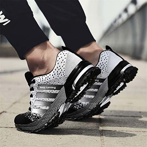 KUBUA Womens Running Shoes Trail Fashion Sneakers Tennis Sports Casual Walking Athletic Fitness Indoor and Outdoor Shoes for Women F Black Women 5 M US/Men 4 M US by KUBUA (Image #5)