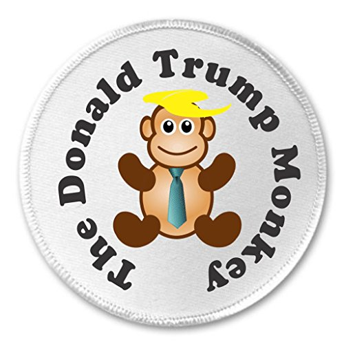 "A&T Designs The Donald Trump Monkey 3"" Sew On Patch Toupee Hair Humor President"