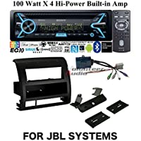 Volunteer Audio Sony MEX-XB100BT Double Din Radio Install Kit with Bluetooth, CD Player, USB/AUX Fits 2005-2011 Toyota Tacoma - (For Vehicles with Factory JBL System)