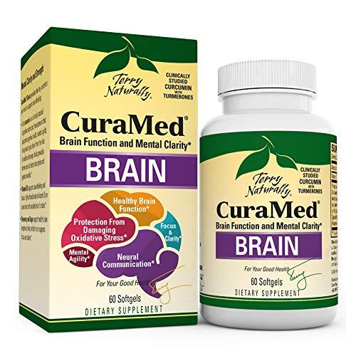 Terry Naturally Curamed Brain – 60 Softgels – BCM-95 Curcumin & Vitamin D3 Supplement, Supports Brain Health, Mental…