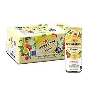 Sanpellegrino Momenti Lemon & Red Raspberry Cans, 11.15 Fluid Ounce (24 Pack)