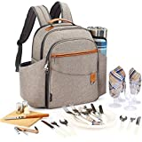 Picnic Backpack Sets for 4 Persons,Picnic Cooler