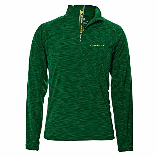NCAA Oregon Ducks Mobility Team Text Quarter Zip, Large, Rider (Oregon Quarters)