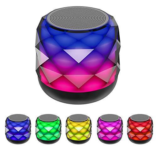 Parlante Bluetooth inalámbrico con luz LED que cambia de luz