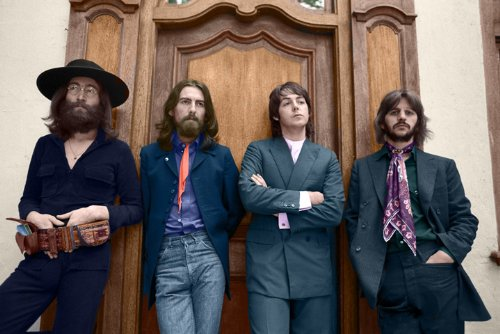 "The Beatles photo session at Tittenhurst 13 X 19"" Photo Print"
