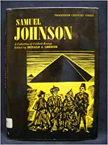 samuel johnson books essay Rasselas and essays has 15 ratings and 0 reviews: published january 1st 1967 by routledge, 0 pages, paperback.