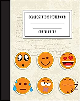 Book Graph Grid Emoji School Homework: Undated Daily/Weekly Assignment/Homework: Softcover Journal, College Ruled, 8'x10' Workbook for School, Office or Personal Use