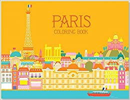 flip to back flip to front - Paris Coloring Book
