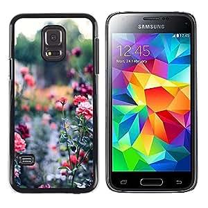 Caucho caso de Shell duro de la cubierta de accesorios de protección BY RAYDREAMMM - Samsung Galaxy S5 Mini, SM-G800, NOT S5 REGULAR! - Garden Green Royal Thorn