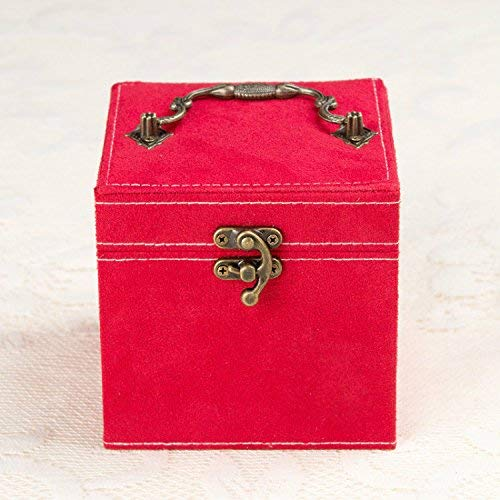 NeDonald Princess Suede Velvet Jewelry Jewellery Box with 3 Removable Layers - Perfect Storage for Your Necklace/Bracelet / Earrings/Pendants,red