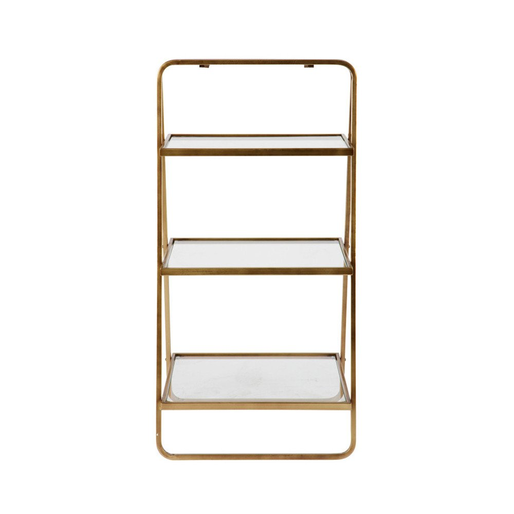 Etagere Barregal Ablageregal Goddess - Messing Glas