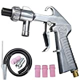 Sandblasting Gun Kit, Air Gun Sprayer, Grit Blasting, Air Siphon Gun with Metal/Ceramic Nozzles& Pipe, Nozzle Gun Gravity Feed Sandblast Kit Speed Blaster Tool