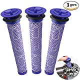 TraGoods 3 Pack Pre Filters Replacement for Dyson Cordless Vacuum Cleaners DC58, DC59, DC61, DC62, V6, V7, V8, Replacements Part # 965661-01