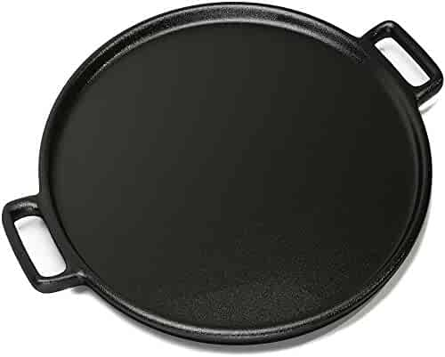 "Home-Complete Cast Iron Pizza Pan-14"" Skillet for Cooking, Baking, Grilling-Durable, Long Lasting, Even-Heating and Versatile Kitchen Cookware"