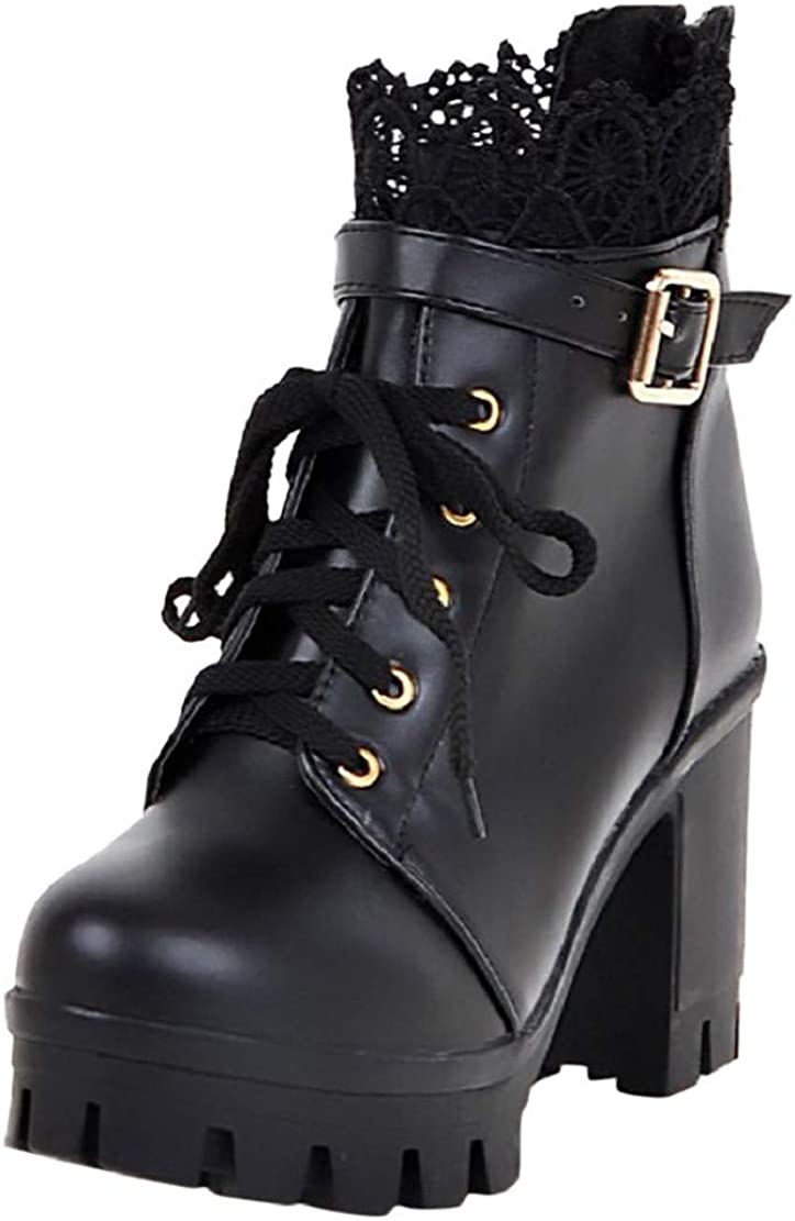Details about  /Sweet Women Lolita Block Heel Bowknot Lace Up  Zip Knee High Boots Cosplay Warm