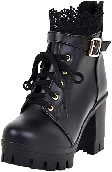 Women Lolita Ankle Boots Cosplay Party