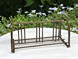 Miniature Dollhouse Fairy Garden Mini Rustic Antiqued Metal Bicycle Bike Rack