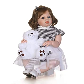 Amazon.com: Muñeca de bebé reborn de silicona suave de 27.6 ...