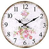 Shabby Chic Pink Rose Live, Laugh, Love Wall Clock Review