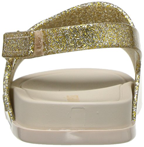 Girls' Melissa Slide mini Beach Gold Sandal Glitter Mini Flat d5wSSx