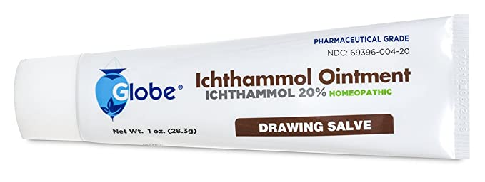 Ichthammol Ointment 20%, (Drawing Salve) 1oz Tube (28 3g) Pharmaceutical  Grade****