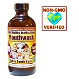 BEST Kid's Healthy Teeth & Gum Mouthwash - Kid's LOVE the Minty Taste! Organic/nonGMO - Anti-cavity, Anti-plaque, Restores Gum Health