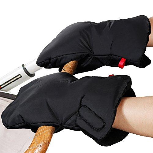 Rovtop Manoplas Carrito Bebe de Nylon Impermeable para cochecitos, coches eléctricos, manillar de bicicleta, guantes de protección de invierno prueba de ...