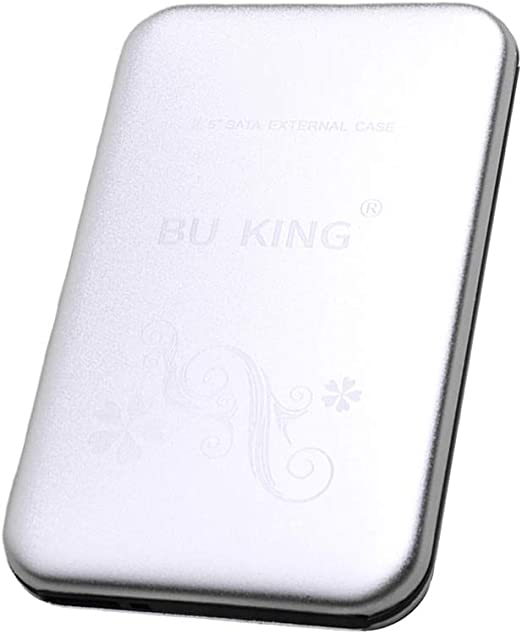 TISHITA ポータブル2.5インチアルミニウム外付けハードドライブ500 GB USB 3.0 HDDシルバー