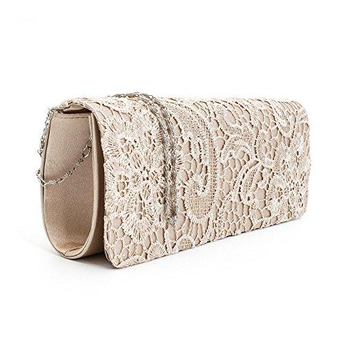 Purse Handbags Bag Body Pleated Ivory Floral Cross Nodykka Wedding Evening Lace Clutches Ozx4v
