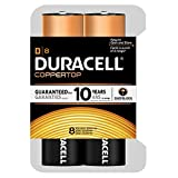 Duracell Coppertop D Batteries, 8 Count
