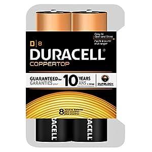 Duracell Coppertop D Batteries, 8 Count