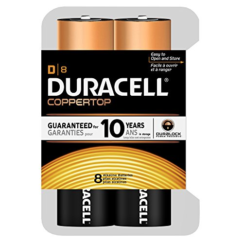 Price comparison product image Duracell Coppertop D Batteries, 8 Count