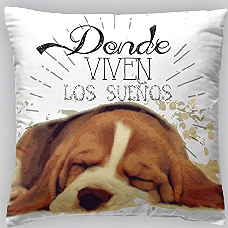 Jarrous Funda de Cojín Modelo Feliz con Estampado de Perro ...