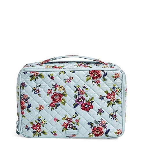 Vera Bradley Iconic Large Blush & Brush Case, Signature Cotton, Water Bouquet