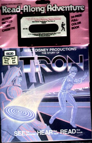 Walt Disney - The Story of Tron - 24 Page Full Color Book & Audio Cassette (Read-Along Adventure) (Color Cassette)