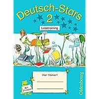 Deutsch-Stars - Allgemeine Ausgabe: 2. Schuljahr - Lesetraining: Übungsheft. Mit Lösungen