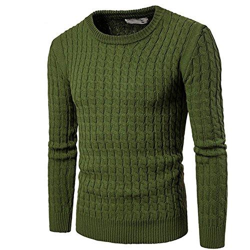 YUZHONGYWAN Cozy Men Sweater New Autumn Winter Full Sleeve O-Neck Sweater Casual Style Slim Fit Tops Dark GreyXXX-Large by YUZHONGYWAN Pullover-sweaters