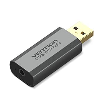 fancyU Convertidor de Tarjeta de Sonido USB Externo Portable ...