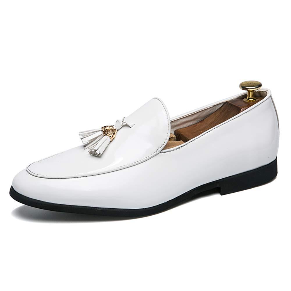 Dundun-shoes 2018 Chaussures Richelieu pour Hommes, Chaussures de Ville Britanniques décontractées à la Mode en Cuir Verni (Color : Noir, Taille : 44 EU)