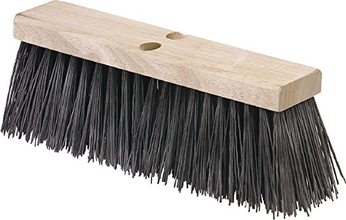 Carlisle 3611301601 Flo-Pac Hardwood Block Floor Sweep, Heavy Polypropylene Bristles, 5.13