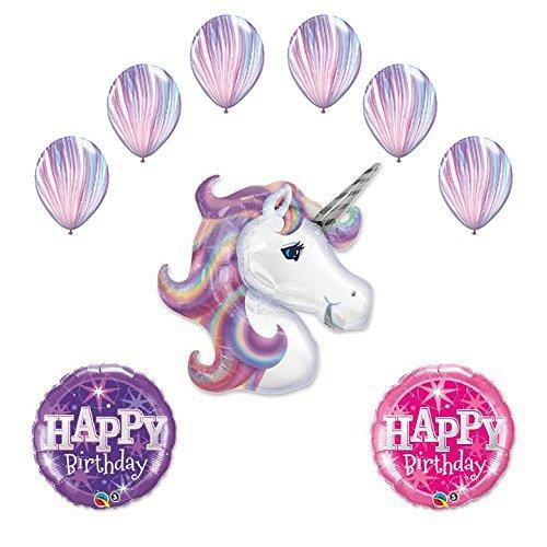 Lavender Unicorn Birthday supplies decorations product image