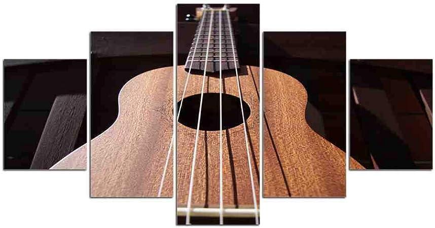 GIAOGE 5 Piezas Guitarra acorde Musical Pared Arte Imagen Regalo decoración del hogar Lienzo impresión Pintura Hermosa para Sala de Estar Impreso en: Amazon.es: Hogar