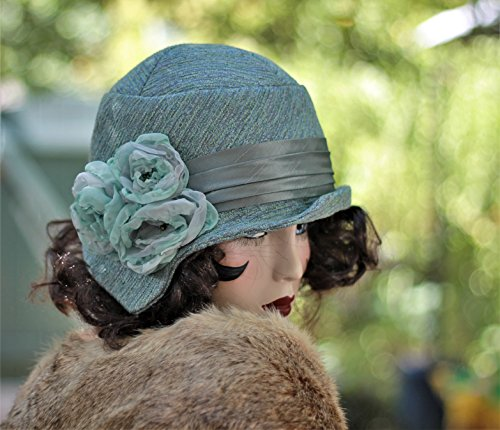 20s Vintage Style Cloche Hat, Fall, Winter, Chemo Hat by Hats by Gail