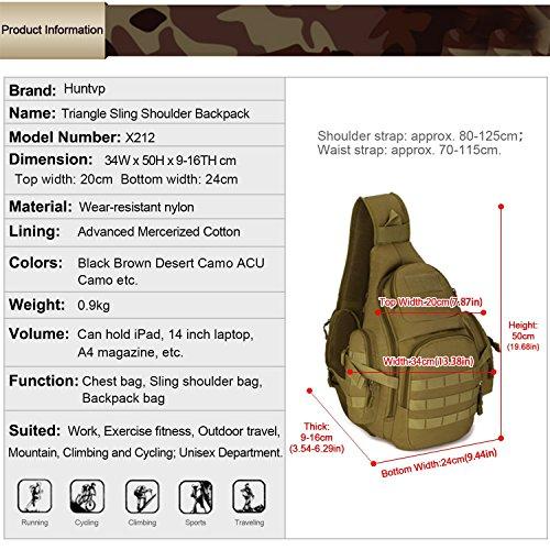 Stile Corsa Sacchetto Impermeabile Huntvp Trekking Campeggio Ecc Mountain Fascia Zaino Militare Colore La Tattico Caccia Toracica Per Tracolla Esercita Nero Bike q8xwXz78