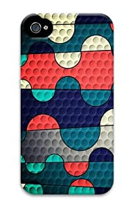 Colored Squiggles PC Case for iphone 4S/4