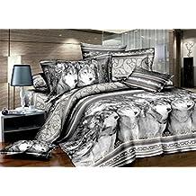 Bobbycool Animal Prints Wolf 100% Cotton Bed Set Bedding Set King Size Bedcover 3d Bedding Set Luxury Duvet Quilt Cover Sets