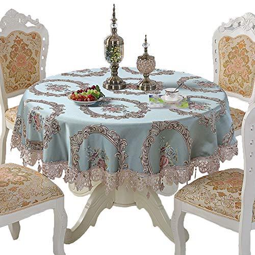 vert Φ280cm Nappe Européenne Nappe Nappe Housse De Table Petite Table Basse Nappe Ronde,vert-Φ280cm