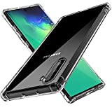 Ahker Crystal Clear Galaxy Note 10 Case, [Ultra Thin] [Slim Fit] [Anti-Yellow] [New] Soft Flexible Silicone TPU Cover Protective Case for Samsung Galaxy Note 10 2019 (Clear-Note 10)