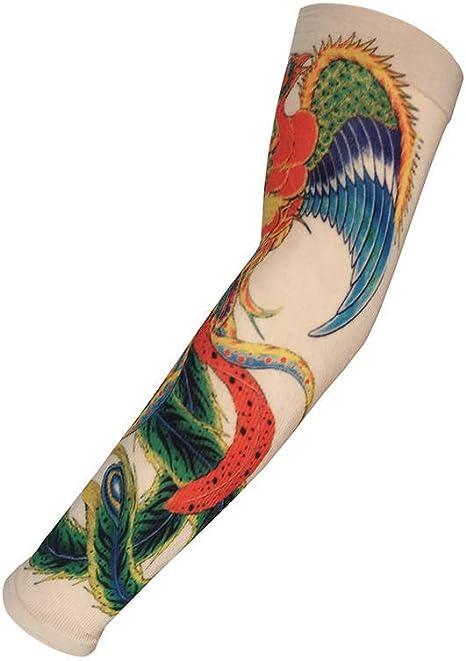 Mzqaxq Tattoo Sleeve Simulación Tatuaje Manga Bicicleta Protector ...